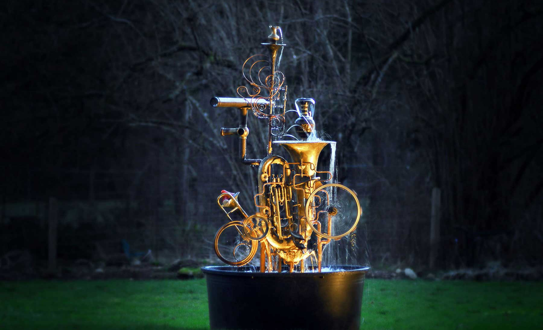 Garden art water fountains