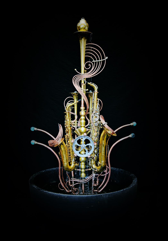 Twin Sax Fountain